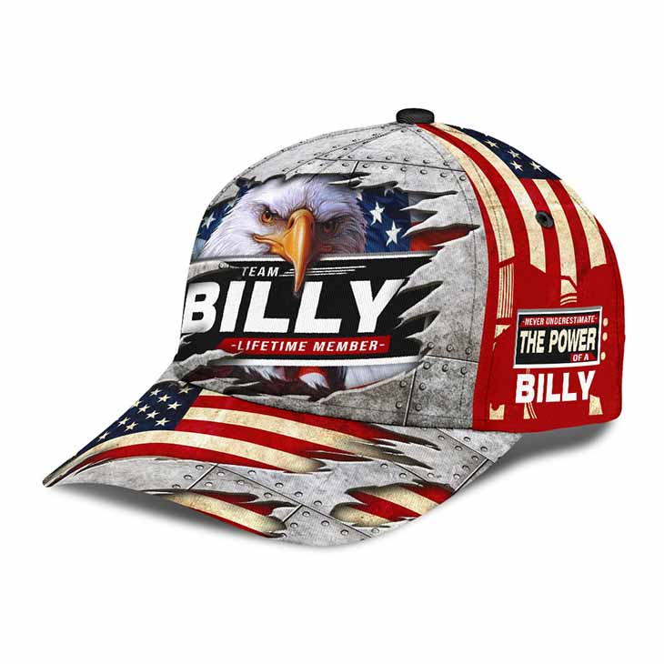 American Flag Eagle Team Billy Lifetime Member Cap Hat 2